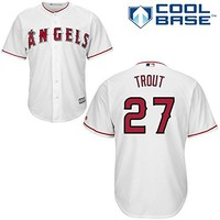 Mike Trout Los Angeles Angels of Anaheim #27 MLB Men's Cool Base Home Jersey (XXLarge)