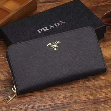 PEAPJ3V Prada Women Fashion Leather Zipper Wallet Purse-23