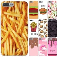 Lavaza food Chocolates French fries Hard Phone Case for Apple iPhone X 10 8 7 6 6s Plus 5 5S SE 5C 4 4S Cover Coque Shell