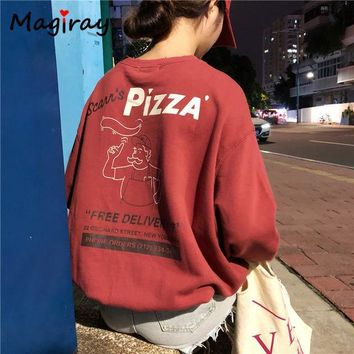 Vintage Style Pizza Delivery Sweatshirt