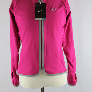 Girls Nike Dri Fit Full Zip Pink Jacket, size Medium