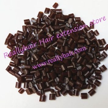 Free shipping 1kg Keratin Glue Granules Beads Grains Hair Extensions Brown color for I tip/ U-tip hair