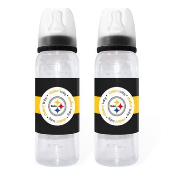 Baby Fanatic 2-Pack of Bottles - Pittsburgh Steelers