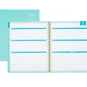 Day Designer Blue Weekly/Monthly 8.5 x 11 Planner July 2015 - June 2016