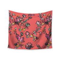 """Victoria Krupp """"Magnolia"""" Pink Floral Wall Tapestry"""