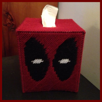Deadpool Tissue Box Cover by K8BitHero on Etsy