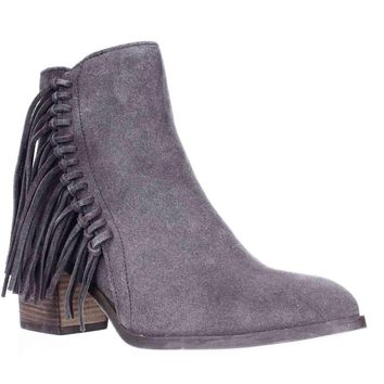 Kenneth Cole REACTION Rotini Side Fringe Ankle Boots, Putty, 9.5 US / 40.5 EU
