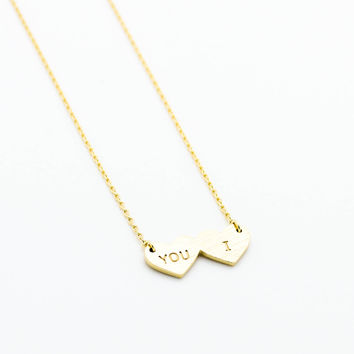 You & I necklace