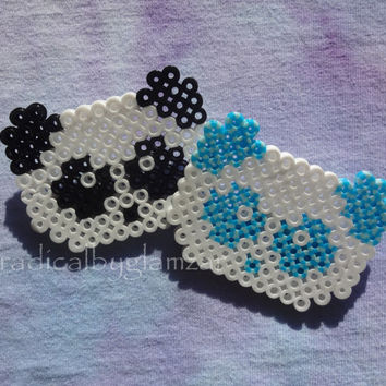 Kawaii Chibi Panda Pin - Customizable Perler Bead Pin
