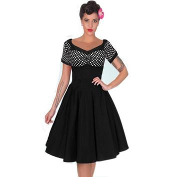 Pinup Swing Rockabilly Polka Dot Dress