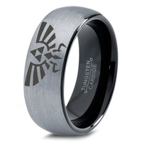 Legend of Zelda Ring Mens Fanatic Geek Sci Fi Jewelry Boys Girls Womens Legend of Zelda Ring Fathers Day Gift Tungsten Carbide 99