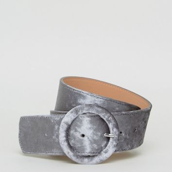 ASOS Velvet Covered Buckle Waist Belt at asos.com