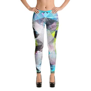 YOGA ART LEGGINGS - Sassy Bohemian Style Yoga Pants w/ Bright Psychedelic Print - BEYOND