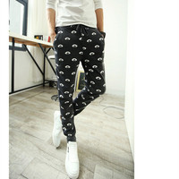 Emoji Joggers Outdoors  Hombrecasual Harem Sports Pants