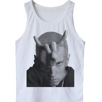 EMINEM Men's Tank Top Shirt Detroit Hip Hop Rapper Rap Club dj Sleeveless shirt S-XL