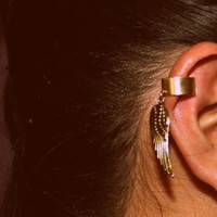 Feather Gold Ear Cuff