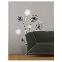 RoomMates Dandelion Peel & Stick Giant Wall Decal