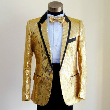 Sequins Prom Dresses Suits Plus Size S- 4XL Paillette Male Master Stage Costumes Men top Host Clothing Singer Blazer Jacket