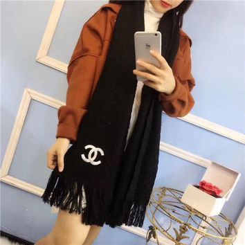 """Chanel"" Women Temperament Simple Fashion All-match Tassel Cashmere Shawl Scarf"