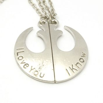 "Star Wars ""I love You - I Know"" Pendant Necklace"