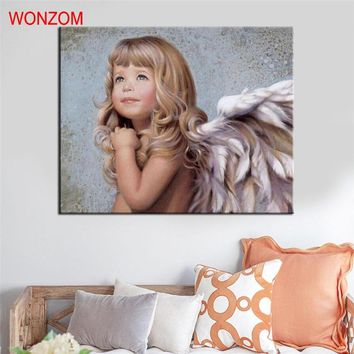 Angel Painting By Numbers DIY HandPainted Angel Canvas Art Coloring By Numbers Picture On Canvas Pictures For Living Home Decor