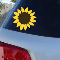 Sunflower Car Window Decal | Flower Car Window Decal | Flowers