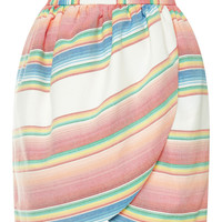 M'O Exclusive: Striped Cotton Tulip Skirt