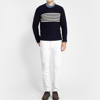 Officine Generale - Striped Wool and Cashmere-Blend Sweater | MR PORTER