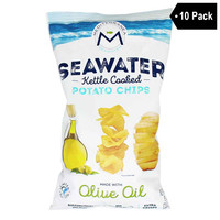 Mediterranea Seawater Seawater Kettle Cooked Potato Chips with Olive Oil (8 oz. x 10)