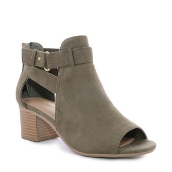 Olive Ila Ankle Strap Booties