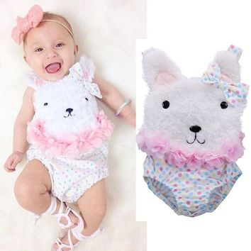 Cartoon Bunny Sleeveless Baby bodysuits Baby Girl One Pieces Cute Clothes Jumpsuits kids clothes Baby Clothing