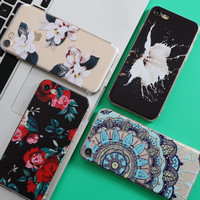 Flowers Coque For iPhone 5 5S SE 6 6S 7 Plus Case For Samsung Galaxy S4 S5 S6 S7 Edge J5 Grand Prime J3 A3 A5 2016 2017 Funda