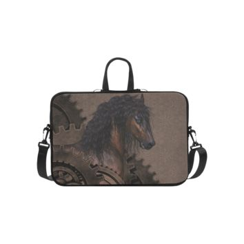 Personalized Laptop Shoulder Bag Steampunk Horse Macbook Pro 15 Inch