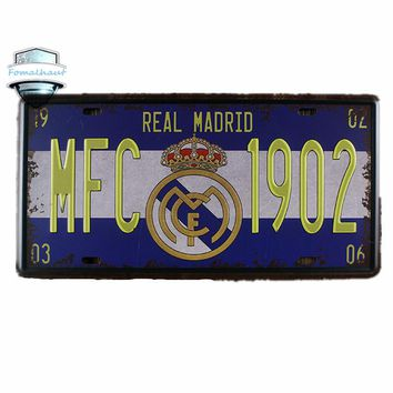 "Vintage Car Plate "" MFC-1902 ""Wall Art Craft Vintage Iron Metal Painting for Bar Decor Custom Led Sign Feyenoord Neon Beer Sign"