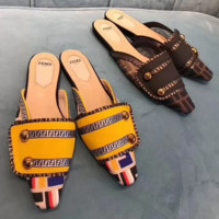 FENDI FF Fashion Slippers and Sandals On Sale
