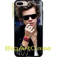 One Direction Harry Styles Black Glasses CASE iPhone 6/6+7/7+8/8+,X and Samsung
