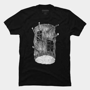 Tree Log With Mysterious Creatures T Shirt By Boriana Design By Humans