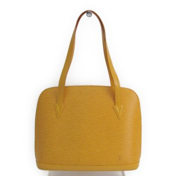 Louis Vuitton Epi Lussac M52289 Women's Shoulder Bag Jaune BF315523