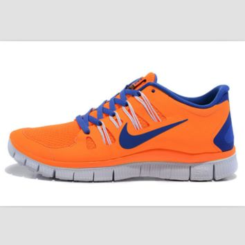 NIKE running breathable casual shock Damping running shoes Orange