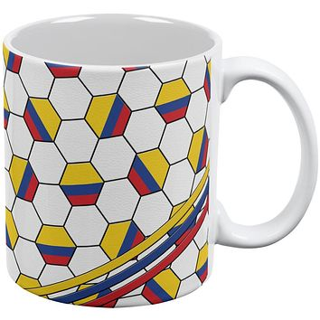 World Cup Colombia Soccer Ball All Over Coffee Mug