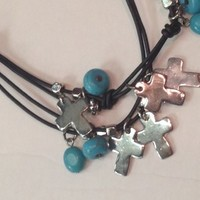 Cross & Turquoise Necklace