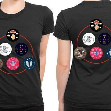CREYH9S Coldplay Timeline Colour 2 Sided Womens T Shirt