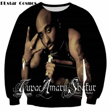 PLstar Cosmos 2017 New fashion 3d sweatshirts Legend Rapper Tupac 2Pac printed Men/Women sweatshirt Harajuku casual hoodies