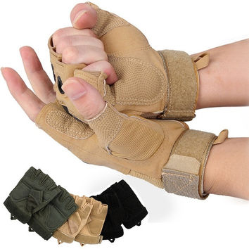 Outdoor Sports Fingerless Military Tactical Airsoft Hunting Riding Game Gloves  7_S = 1905895044