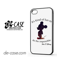 Walt Disney Quote DEAL-11806 Apple Phonecase Cover For Iphone 4 / Iphone 4S