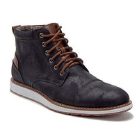 New Men's 617138 Contrast Lace Up Ankle High Chukka Boots