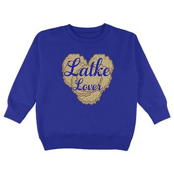 Hanukkah Latke Lover Toddler Sweatshirt