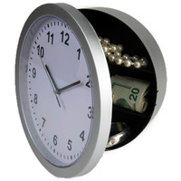 Evelots Mountable Safe Hidden Wall Clock - Security For Valuables