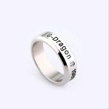 Youpop Kpop Bigbang Gd G-DRAGON K-pop Gdragon Ring TOP T.O.P Daesung Rings Accessories For Men And Women Made The Full Album