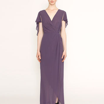 Australian Designer Label ROMANCE Grape Night Falls Butterfly Maxi Dress